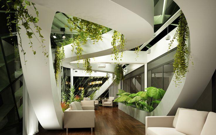interiorismo eco con plantas
