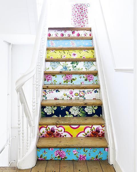papeles pintados escalera