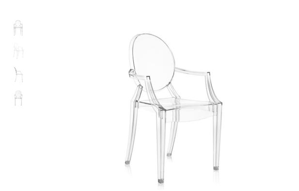 perfil silla Louis Ghost de kartell